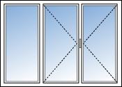 fenetre trois vantaux dont 1 fixe